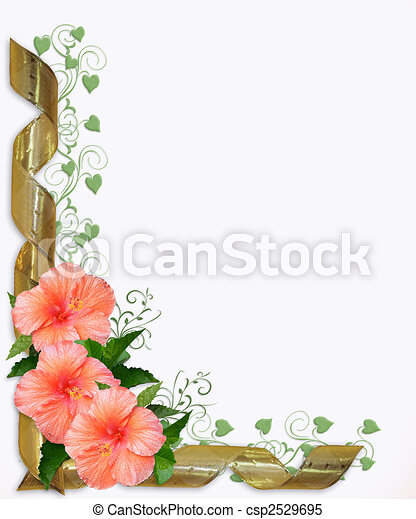 Wedding or Party Invitation Hibiscus - csp2529695