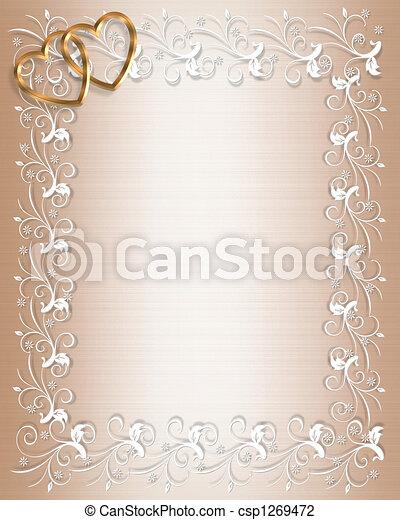Wedding or Party Invitation Satin - csp1269472