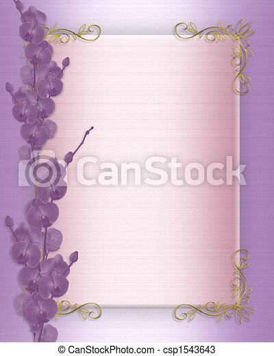 Wedding or Party Orchids Invitation - csp1543643