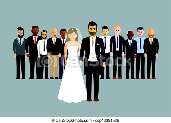 wedding party vector illustration search clipart drawings and rh canstockphoto com wedding party clip art free silhouette wedding party clipart
