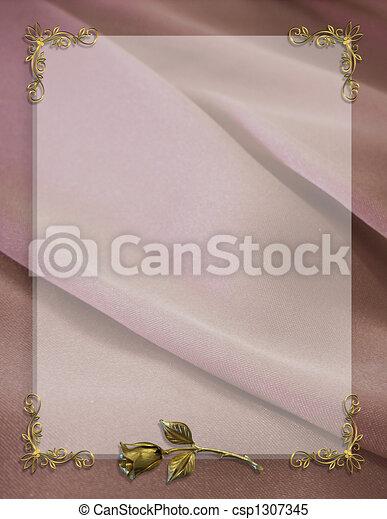Wedding Party Invitation Border - csp1307345