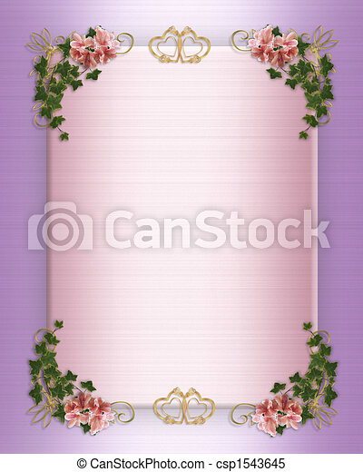 wedding party invitation floral border image and illustration