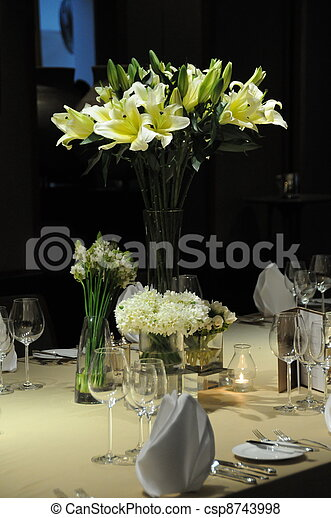 wedding reception area . - csp8743998