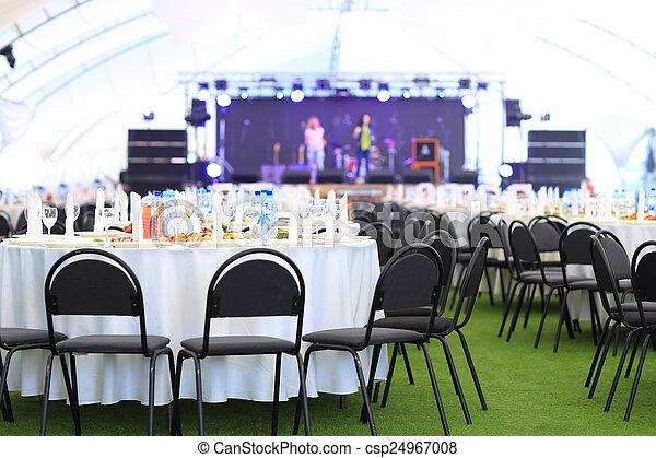 wedding reception area - csp24967008