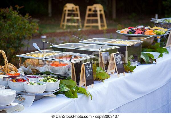 Wedding Reception Buffet Dinner Buffet Dinner At A Wedding