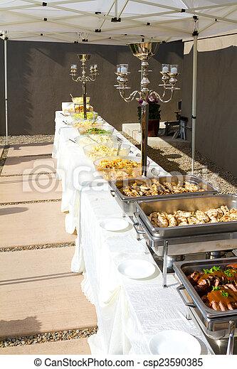 Wedding Reception Buffet Reception Food At A Wedding Buffet