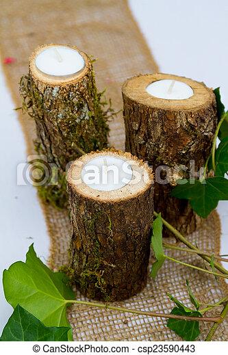 Wedding Reception Decor Candles - csp23590443
