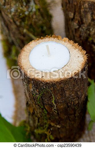 Wedding Reception Decor Candles - csp23590439