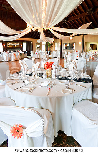 Wedding reception hall - csp2438878