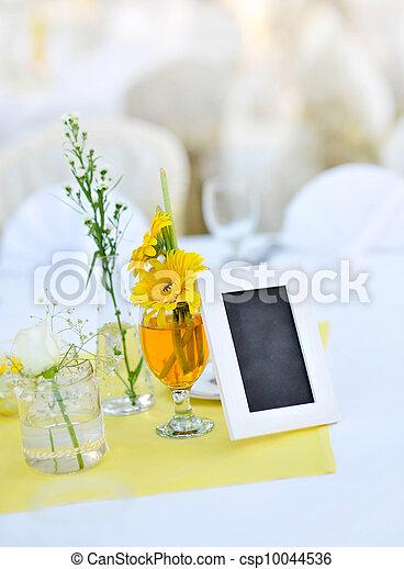 Wedding Reception. - csp10044536
