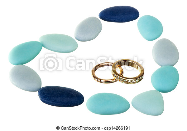 wedding ring and weddings favors - csp14266191