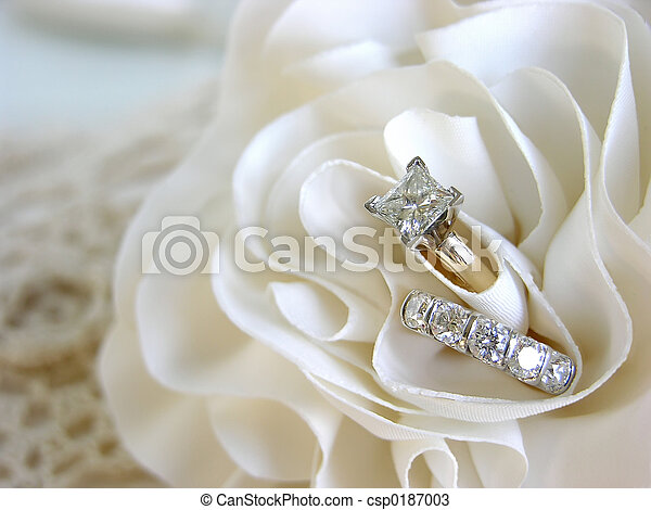 Wedding Ring Background Diamond Wedding Rings In The Folds Of The