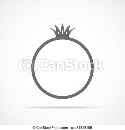 Wedding Ring Icon Vector Illustration Gray Wedding Ring Icon In