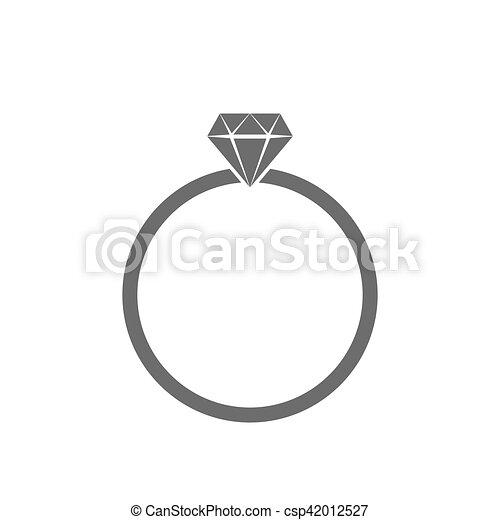 Wedding ring icon vector illustration Gray wedding ring vector