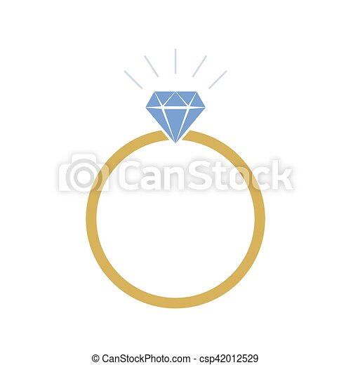 Wedding Ring Icon Vector Illustration Colored Wedding Ring Icon In