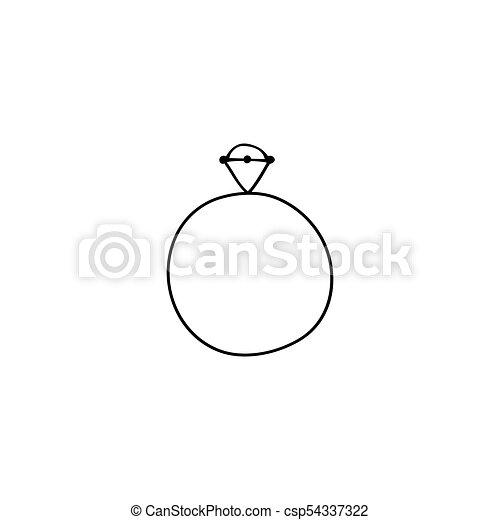 wedding ring logo element vector hand drawn object wedding ring feminine logo element romantic clipart for wedding https www canstockphoto com wedding ring logo element 54337322 html