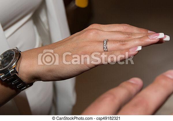 Wedding Ring On Woman Hand