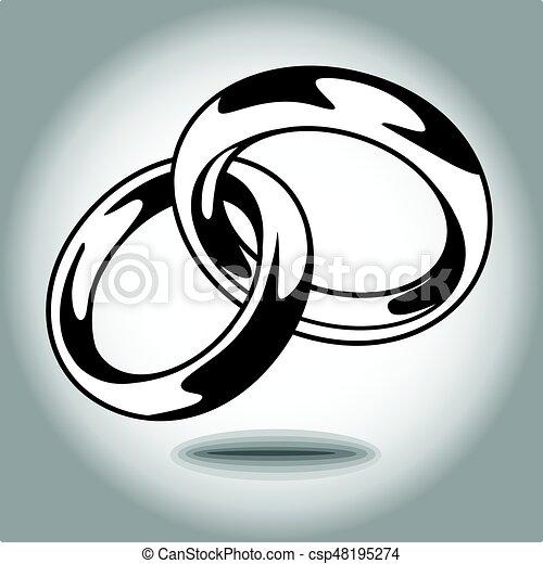 Wedding ring vector illustration on white background eps 10 vectors