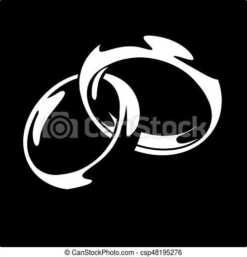 Wedding ring vector illustration on black background eps 10 vectors