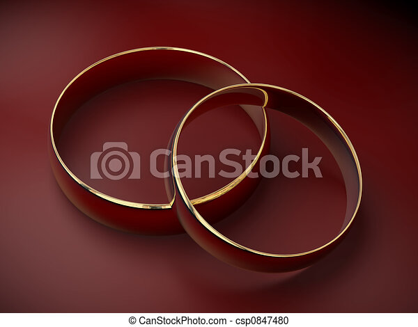 Wedding rings 3D - csp0847480