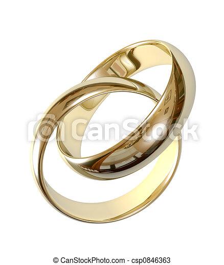 Wedding rings 3D - csp0846363