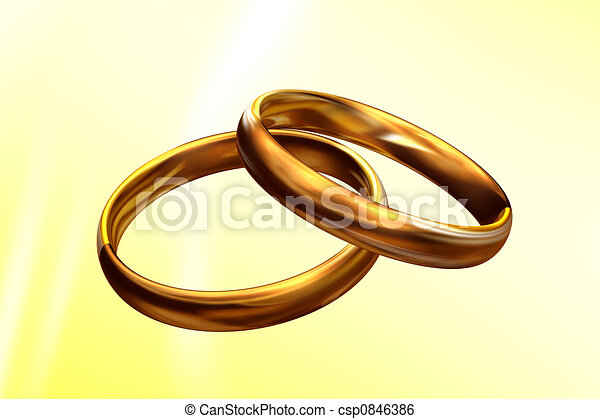 Wedding rings 3D - csp0846386