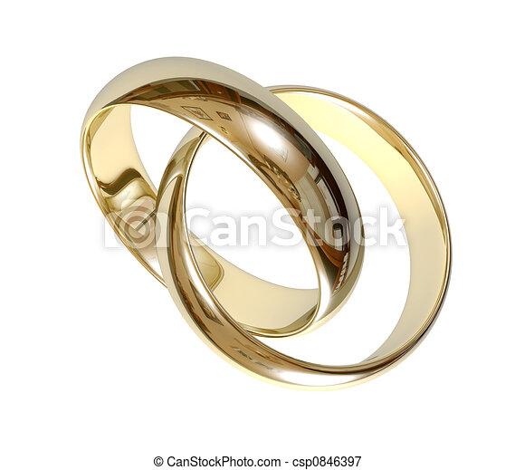 Wedding rings 3D - csp0846397