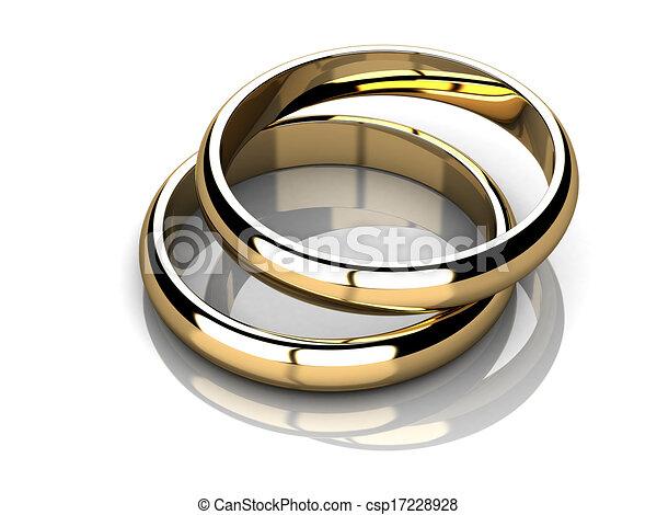 Wedding rings  - csp17228928