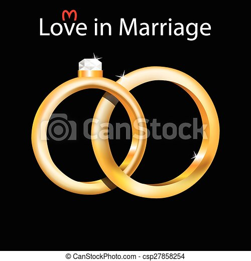 Wedding Rings Illustration Of Wedding Rings As A Symbol Of Marriage