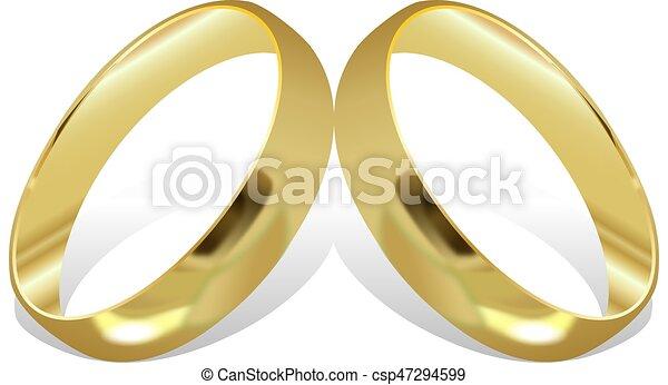 Wedding rings - csp47294599