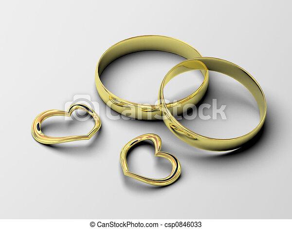 wedding rings - csp0846033