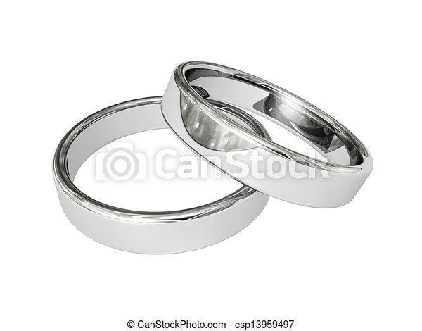 wedding rings - csp13959497