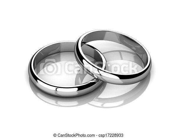 Wedding rings  - csp17228933