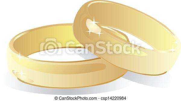 wedding rings - csp14220984