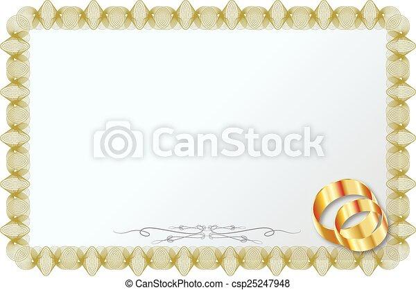 WEDDING RINGS - csp25247948