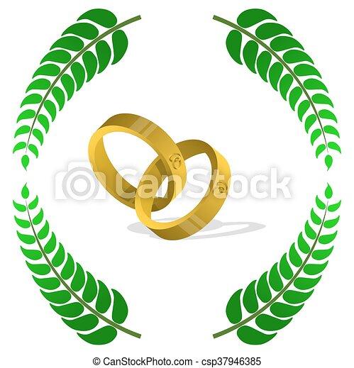 wedding rings - csp37946385