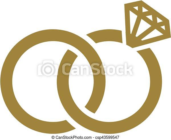 Wedding rings - csp43599547