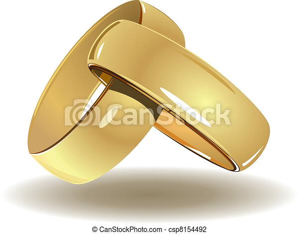 Wedding rings - csp8154492