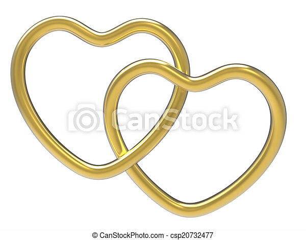 Wedding Rings Indicates Valentine Day And Eternity   Csp20732477