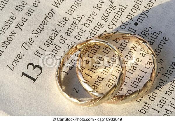 Wedding rings on bible Wedding rings photographed with 1 stock