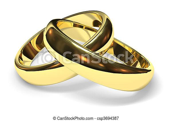 wedding rings - csp3694387