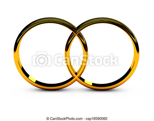 Two Wedding Rings Symbol Of Love And Loyalty