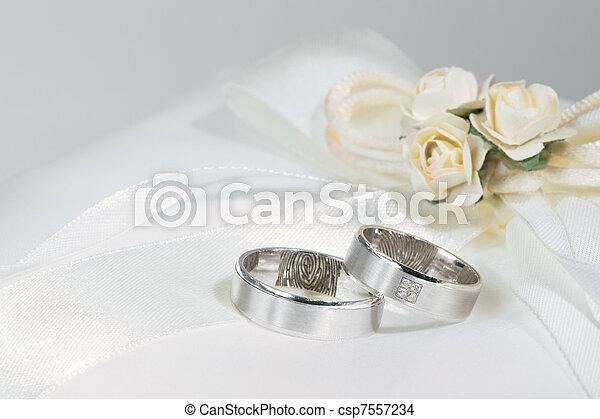 Wedding rings - csp7557234