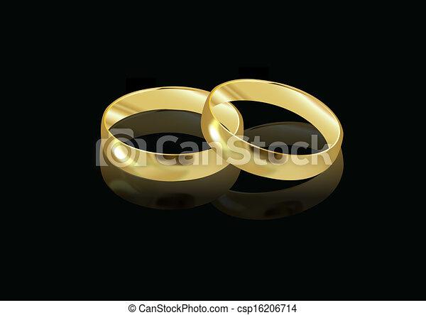 WEDDING RINGS - csp16206714