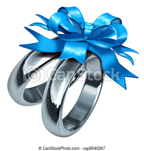Wedding Ring With Navy Emblem