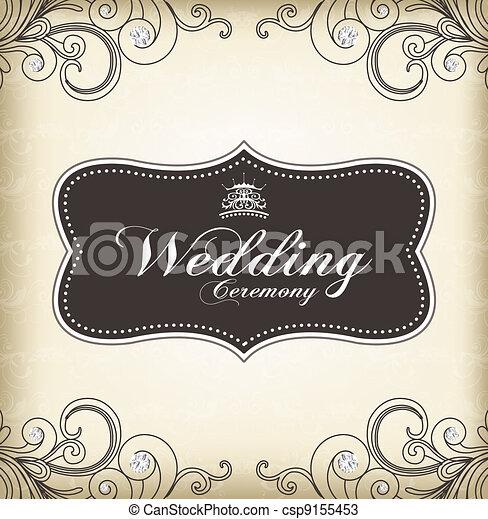 (wedding, rocznik wina, ułożyć, ceremony) - csp9155453