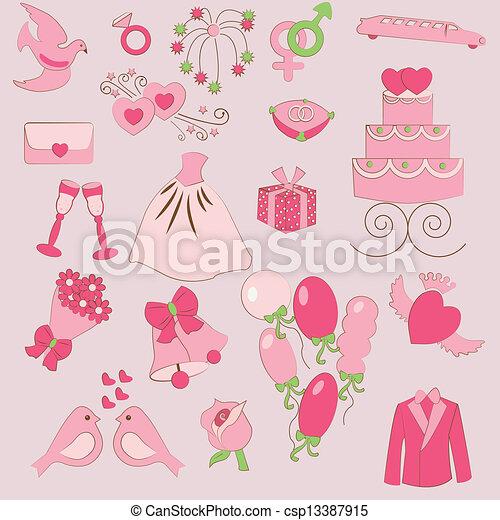 wedding set - csp13387915