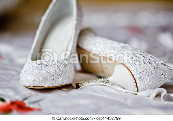 Wedding shoes for the bride - csp11457799