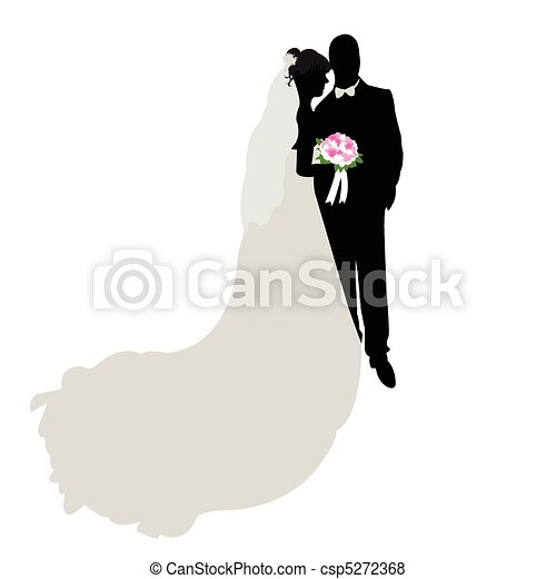 Wedding silhouette, figure - csp5272368