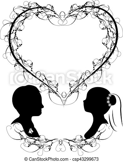 Wedding silhouette vector it is a vector illustration in eps file wedding silhouette vector junglespirit Gallery